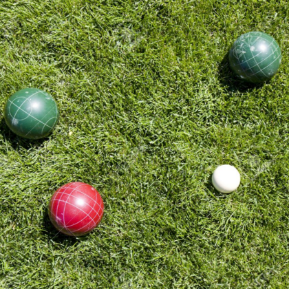 Overhead bocce taken to show measurements.