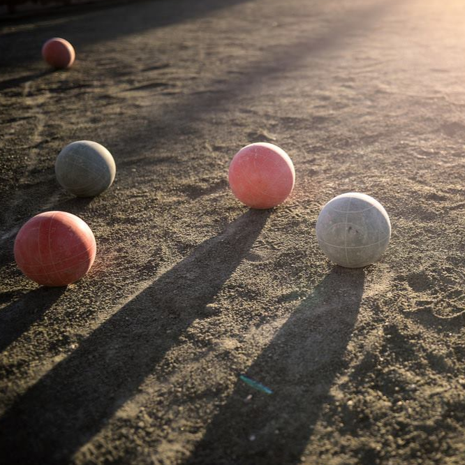 Sun shines on Joe DiMaggio bocce court